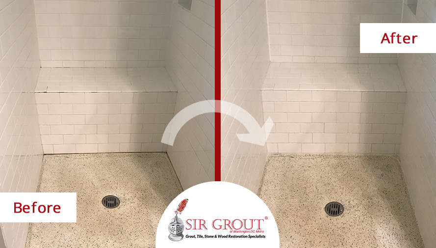 This Shower In Vienna Washington DC Got Rid Of Grime Thanks To A - Bathroom tile cleaning service