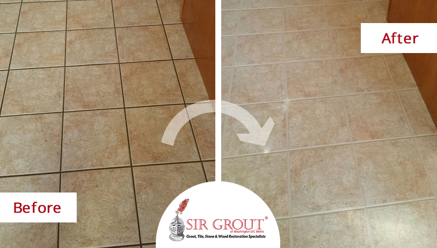 Grout Recoloring Creates a Whole New Look in This Beautiful Fairfax ...