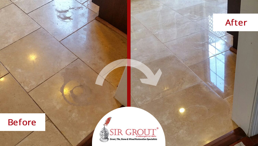This Luxurious Marble Floor Regained Its Shine With A Stone - How to shine marble floors naturally