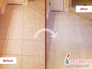 Before and after Picture of a Sealing Service in Great Falls, VA