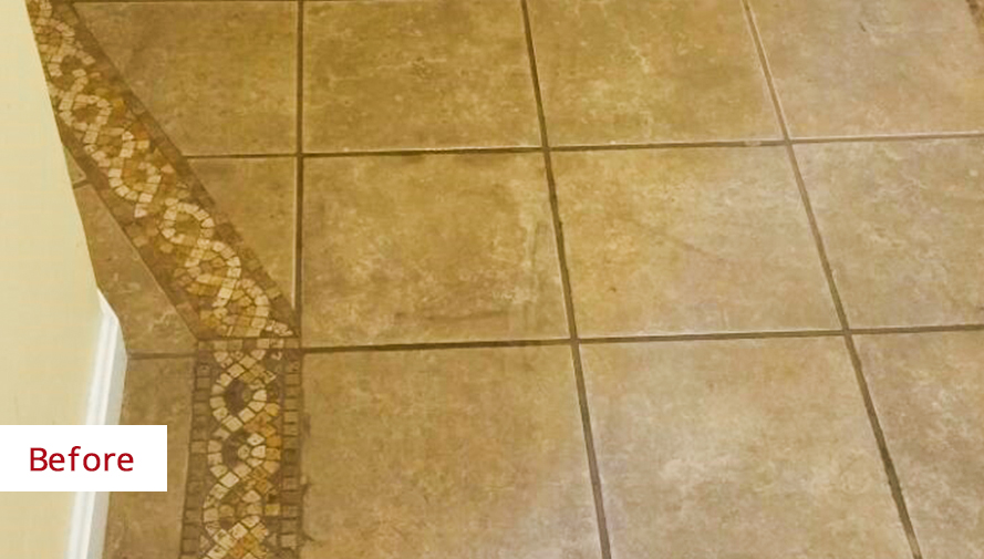 Failed DIY Grout Recoloring Project in Sterling VA Requires Us to ...